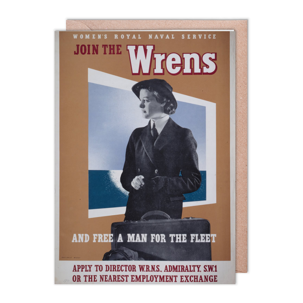Join the Wrens and Free a Man for the Fleet Greeting Card (x2)