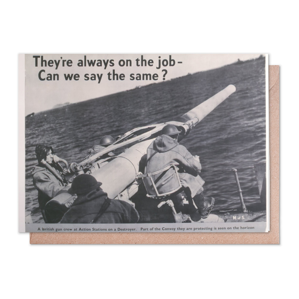 They're Always on the Job Can We Say the Same?  Greeting Card (x2)