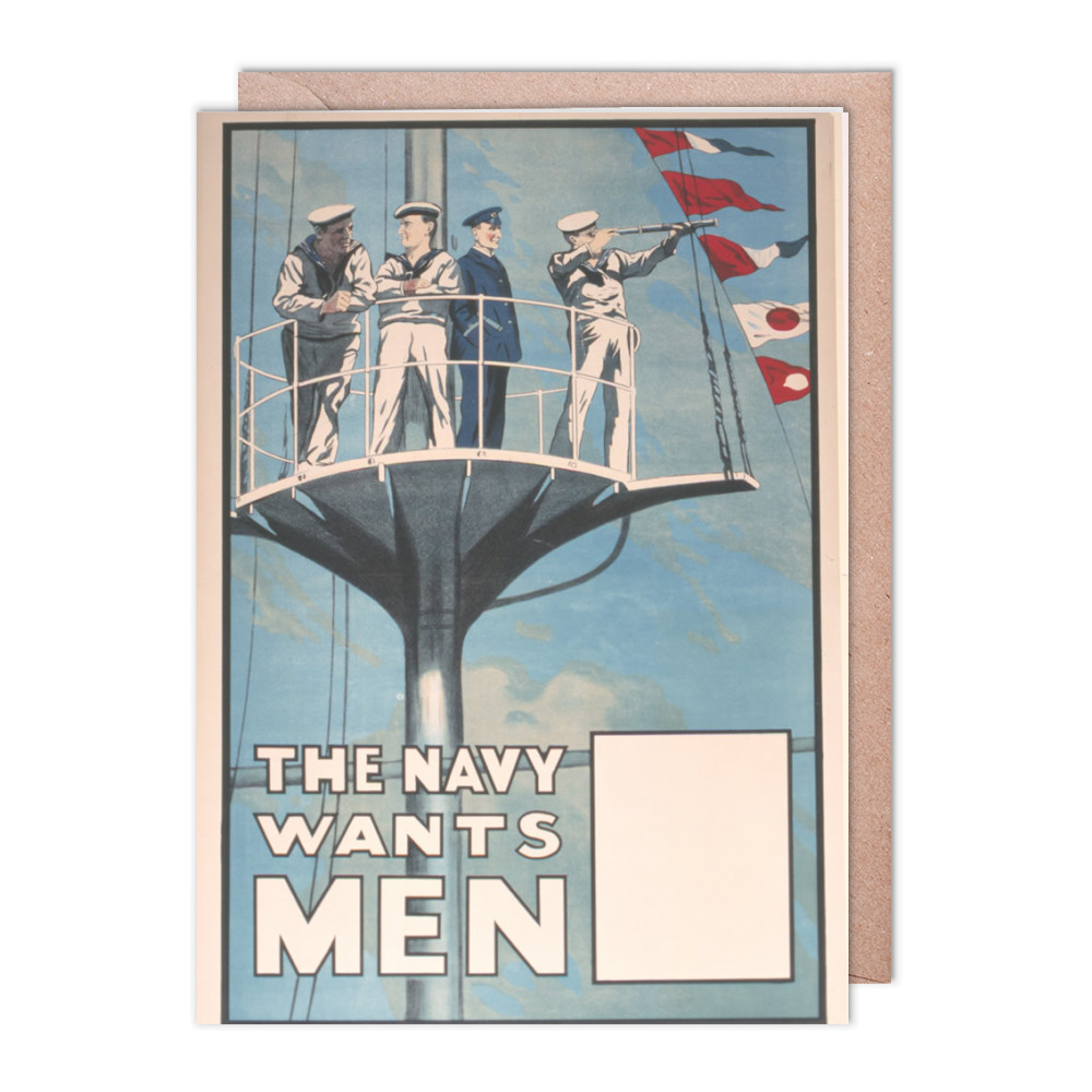 The Navy Wants Men Greeting Card (x2)