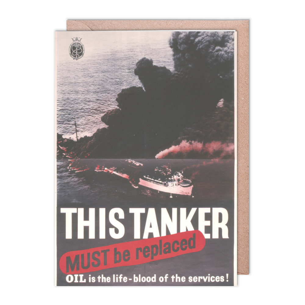 This Tanker Must be Replaced Greeting Card (x2)