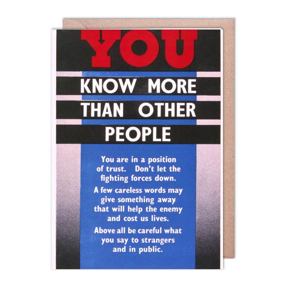 You Know More Than Other People Greeting Card (x2)