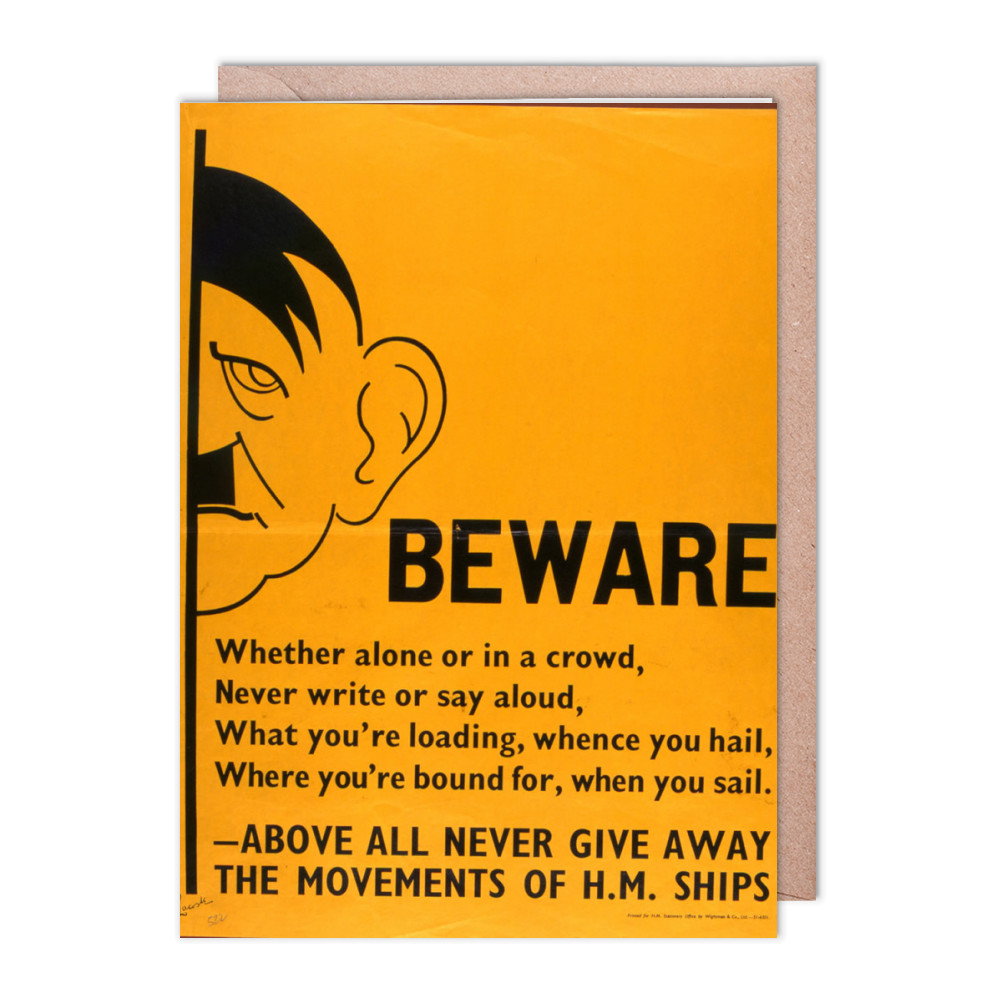 Beware Greeting Card (x2)