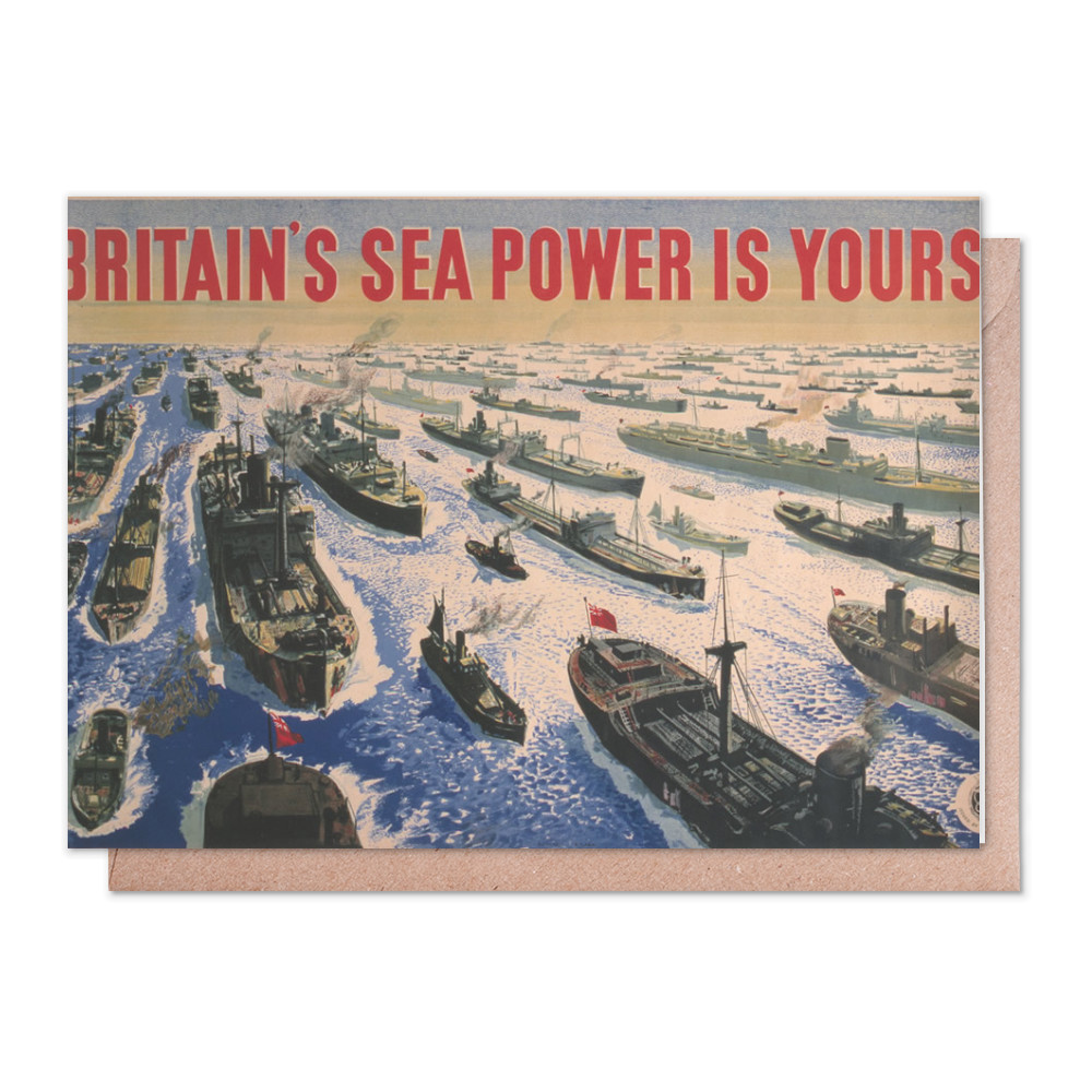 Britain's Sea Power is Yours! Greeting Card (x2)
