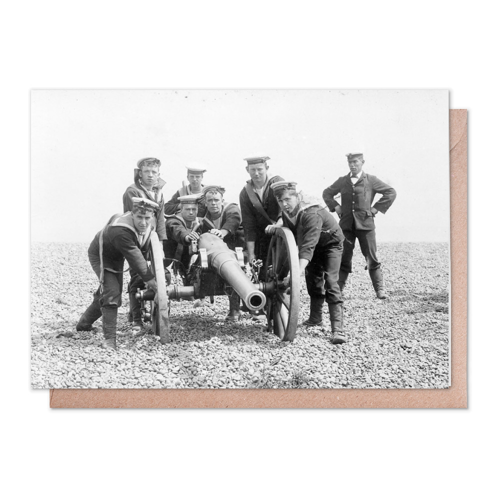 Field Gun Training for HMS Wildfire Greeting Card (x2)