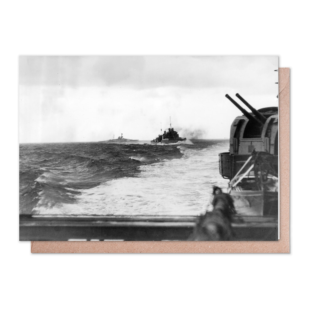Force H Going into Action off Cape Spartivento Greeting Card (x2)