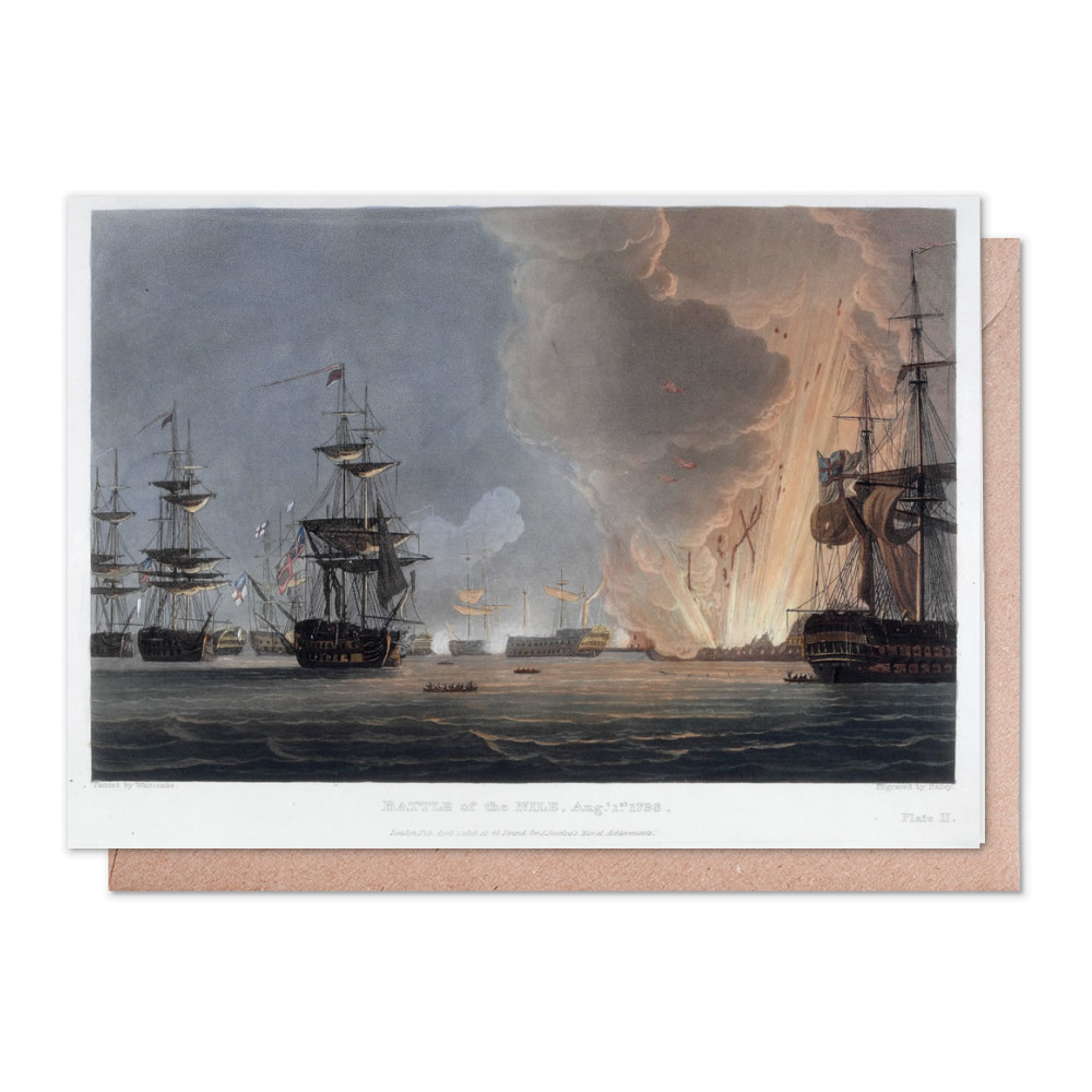 Battle of the Nile, August 1798 Greeting Card (x2)