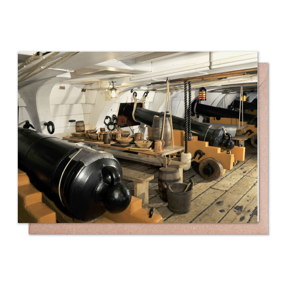 The Mess Deck on Board HMS Victory Greeting Card (x2)
