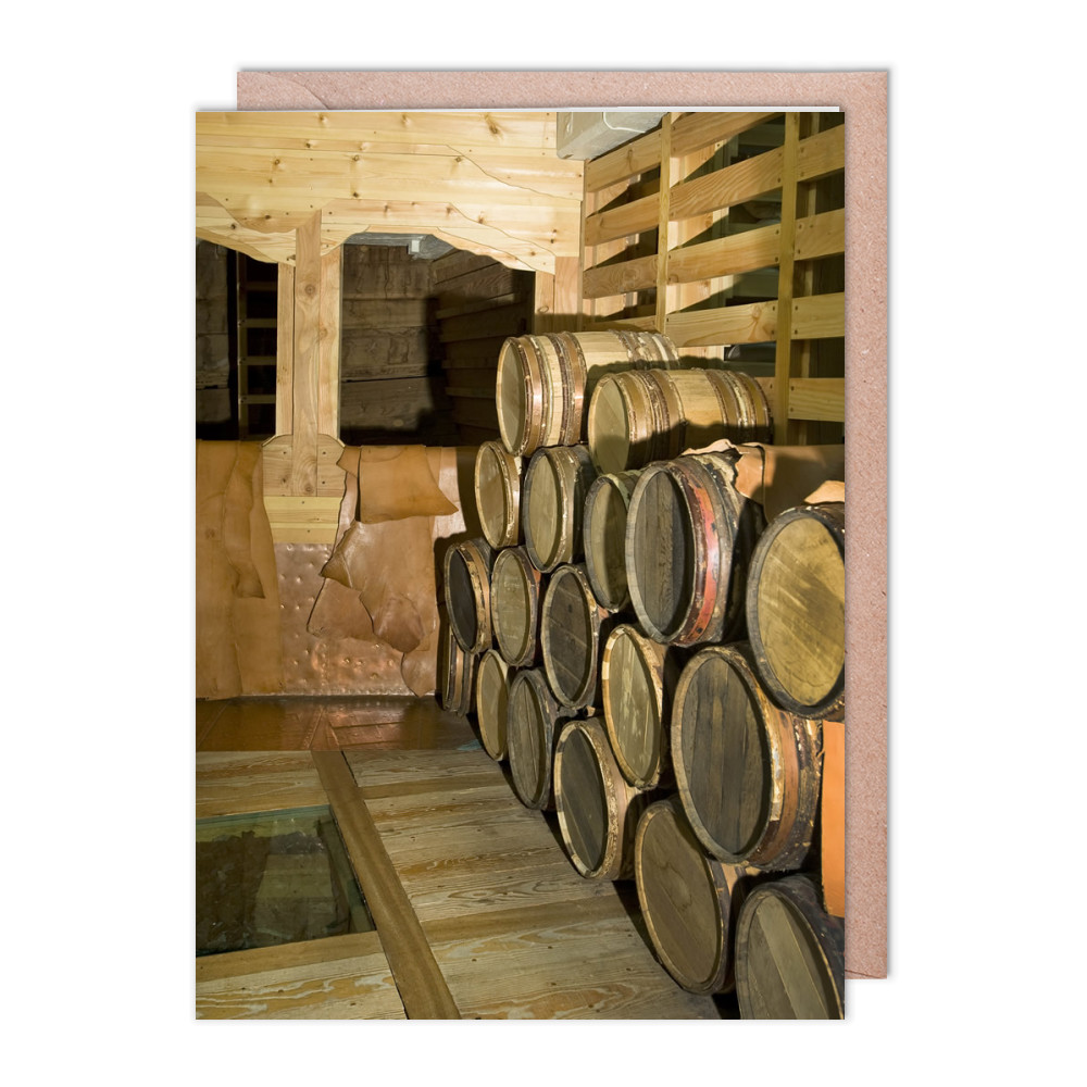 Barrels on Board HMS Victory Greeting Card (x2)