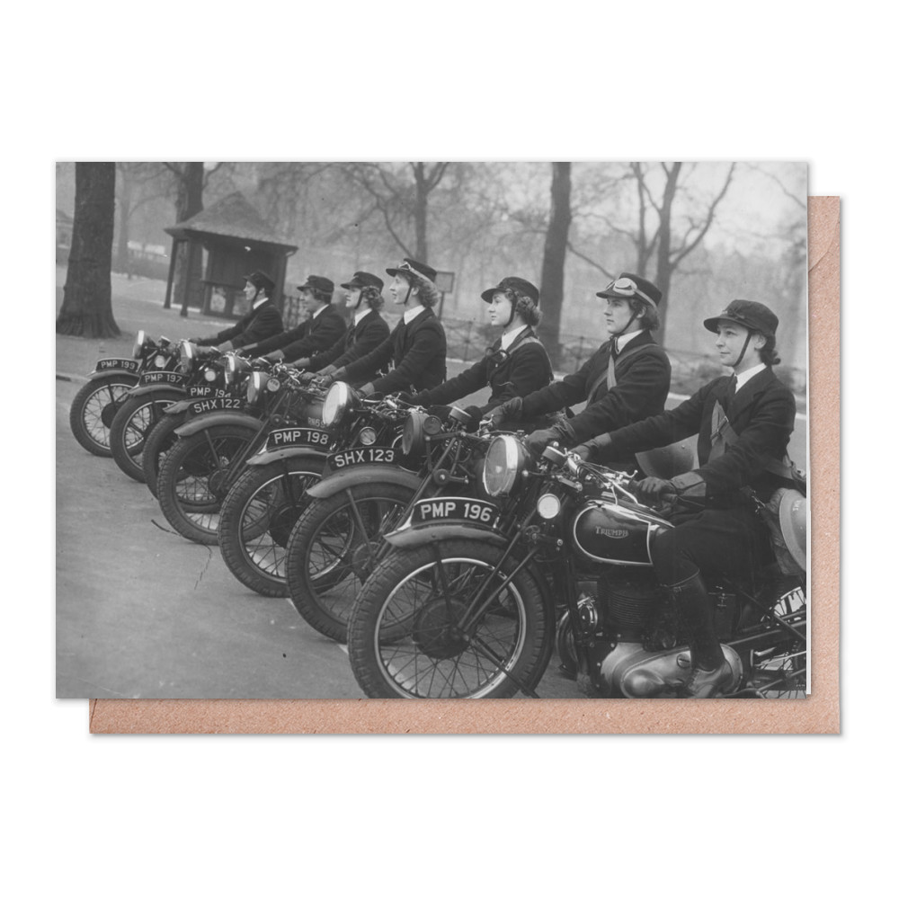 WRNS Despatch Riders Greeting Card (x2)