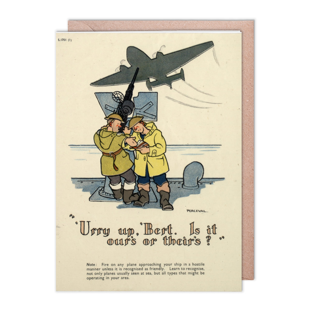 Urry up Bert Greeting Card (x2)