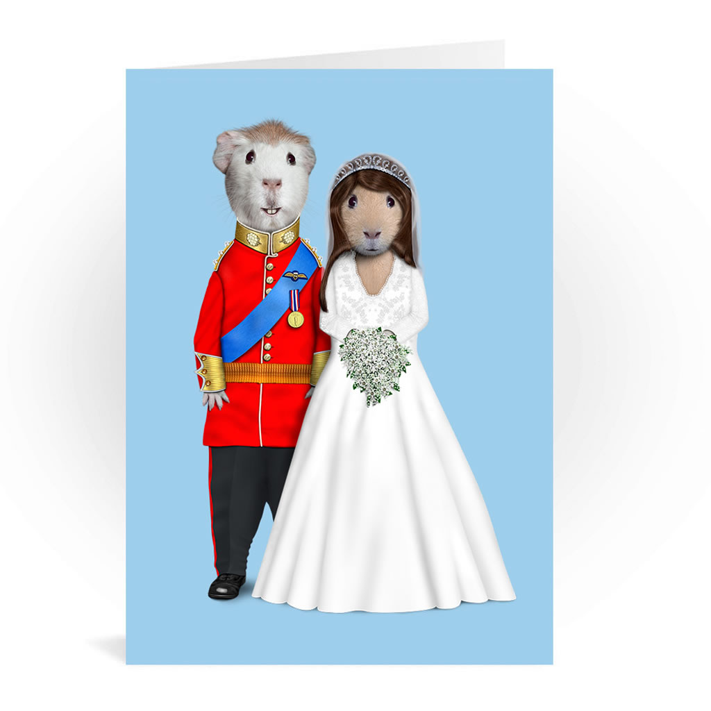 Mr & Mrs Pets Rock Greeting Card