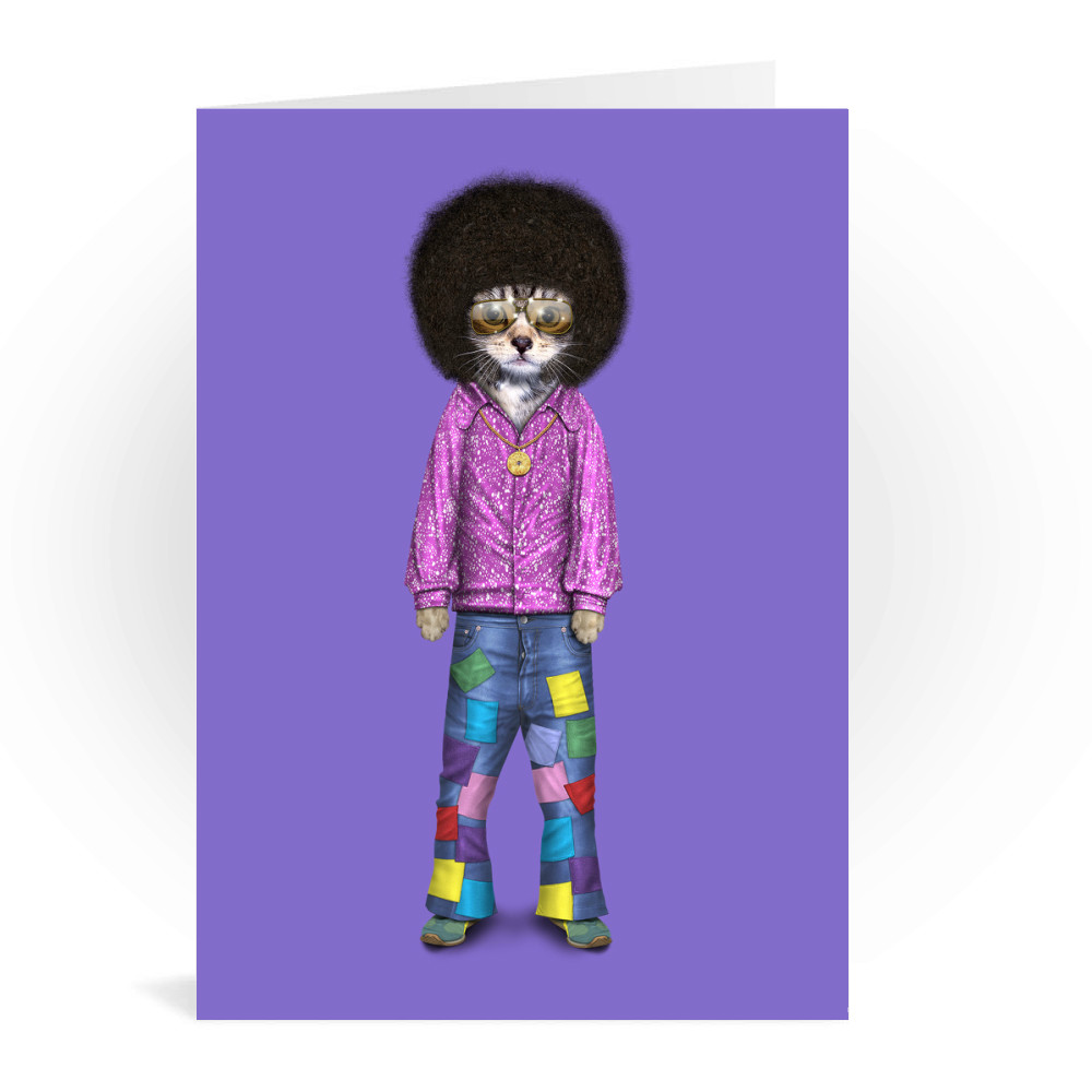 Disco Pets Rock Greeting Card