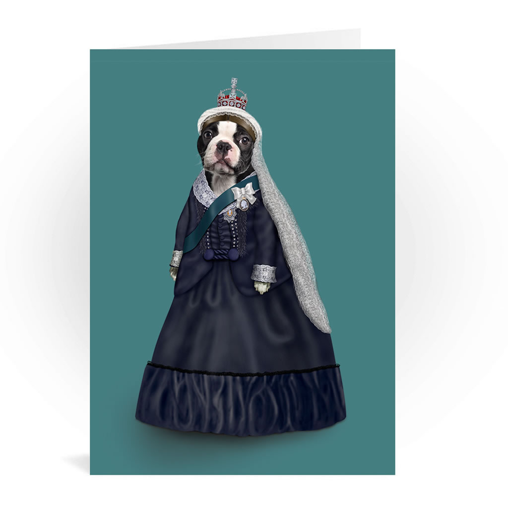 Queen Vic Pets Rock Greeting Card
