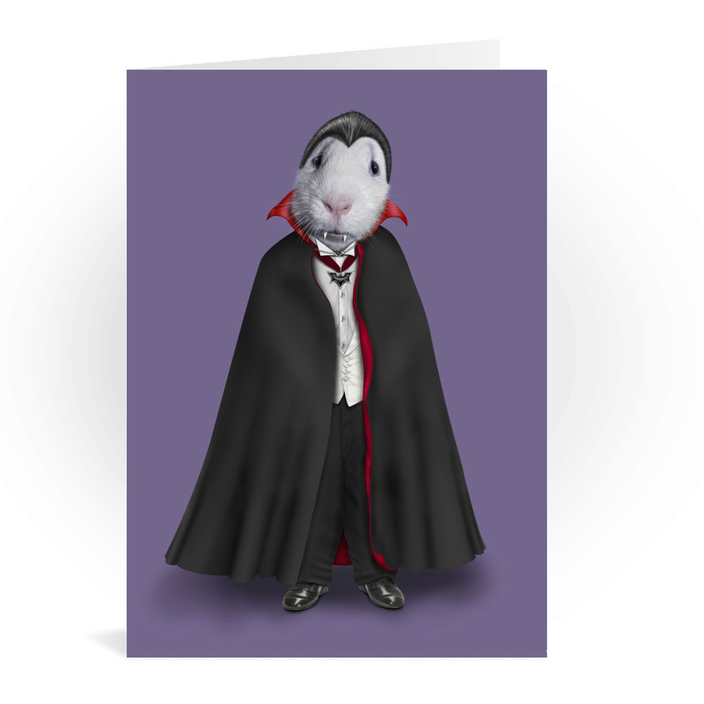 Dracula Pets Rock Greeting Card