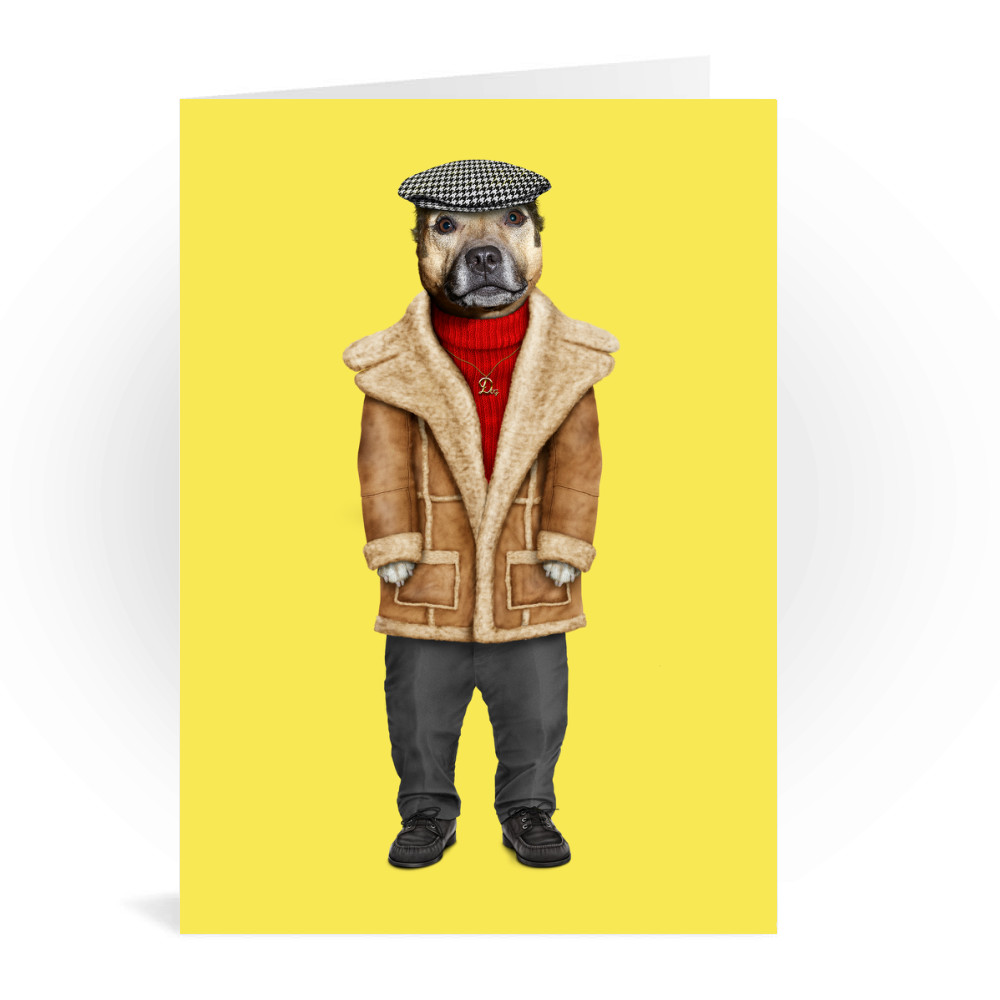 DogBoy Pets Rock Greeting Card