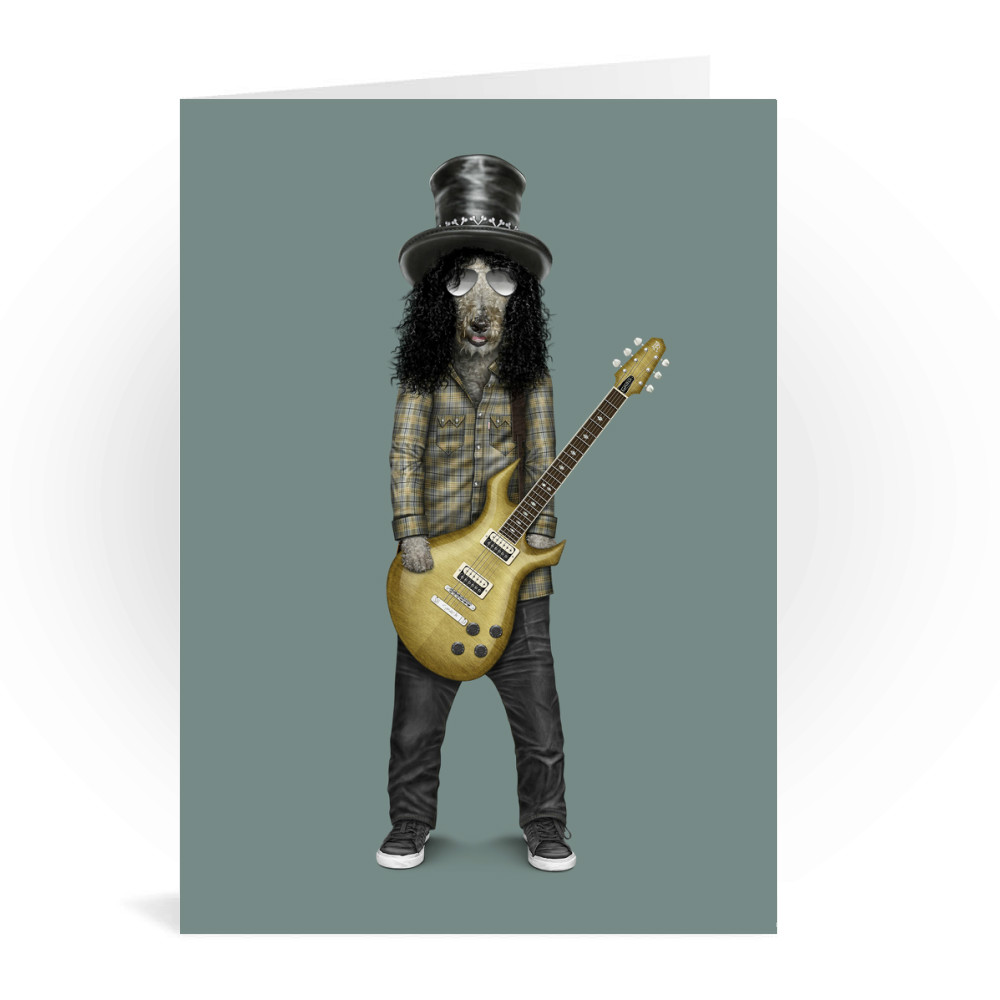 Gnash Pets Rock Greeting Card