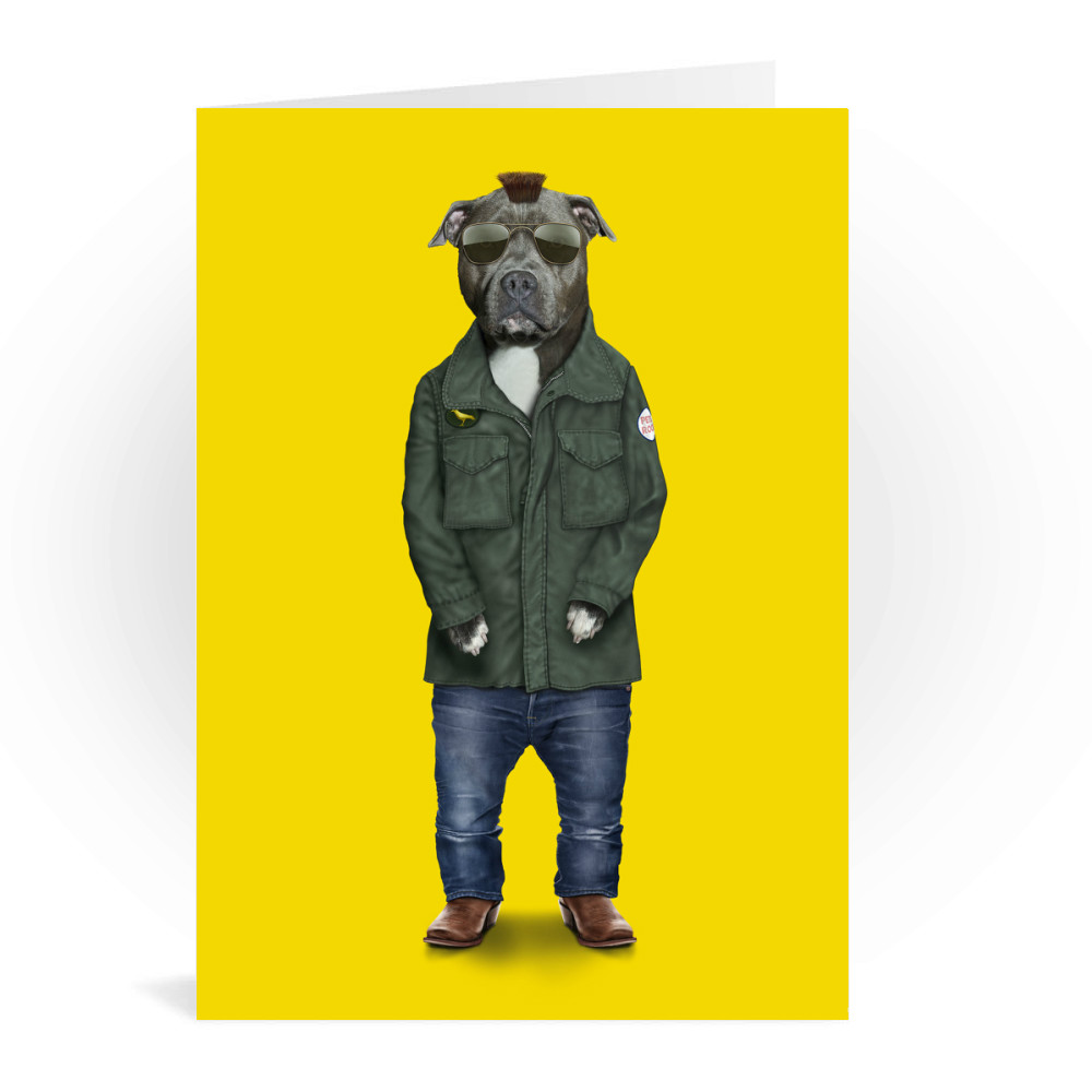 Cabbie Pets Rock Greeting Card