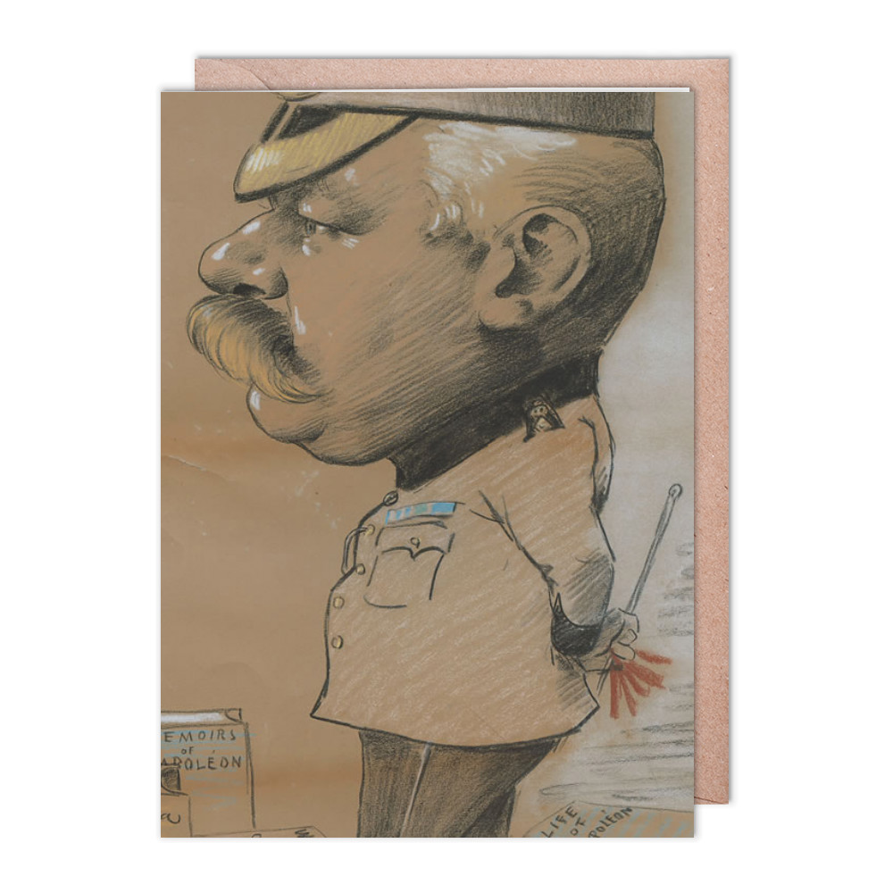 caricature, unidentified Lieutenant Colonel of the Royal Marines Light.. Greeting Card (x2)