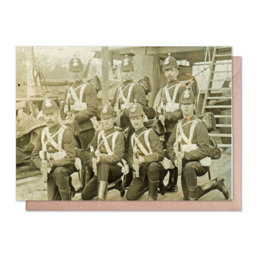 Royal Marine Artillery detachment aboard an unidentified warship, c1890... Greeting Card (x2)