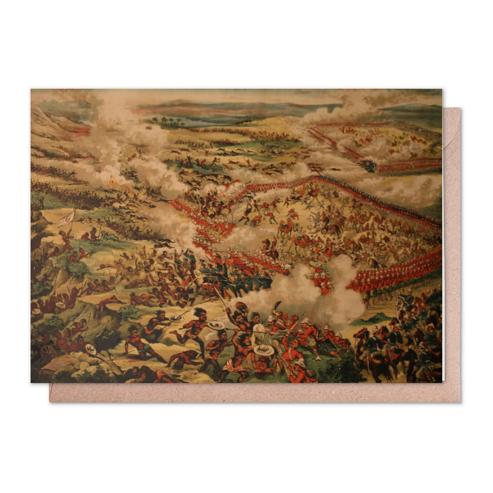 Birds Eye View of the Battle of Tamanieb, 13th March 1884. Greeting Card (x2)