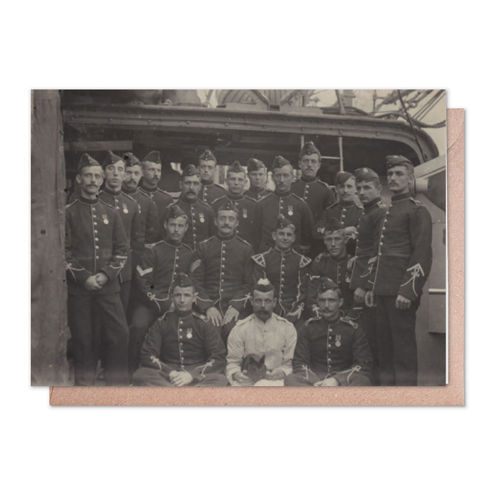 Royal Marine Light Infantry Detachment at the base ship HMS Wildfire,.. Greeting Card (x2)