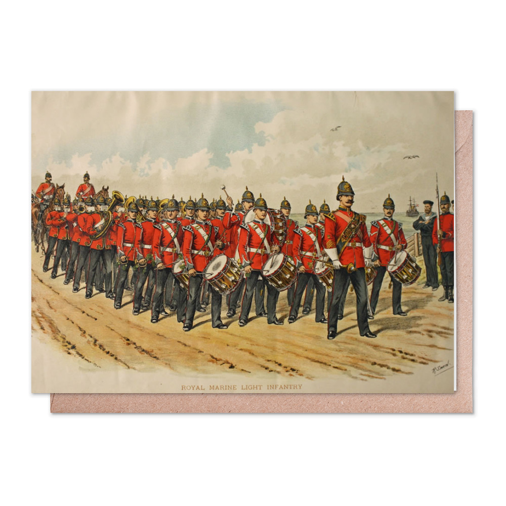 Royal Marine Light Infantry Greeting Card (x2)
