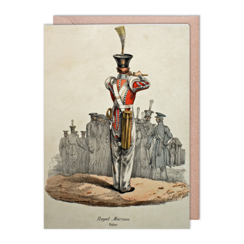 Royal Marines Fifer Greeting Card (x2)