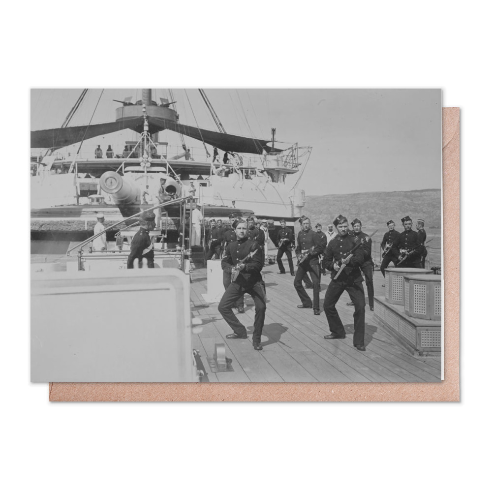 Royal Marine Artillery at Bayonet Exercise under the direction of Captain.. Greeting Card (x2)
