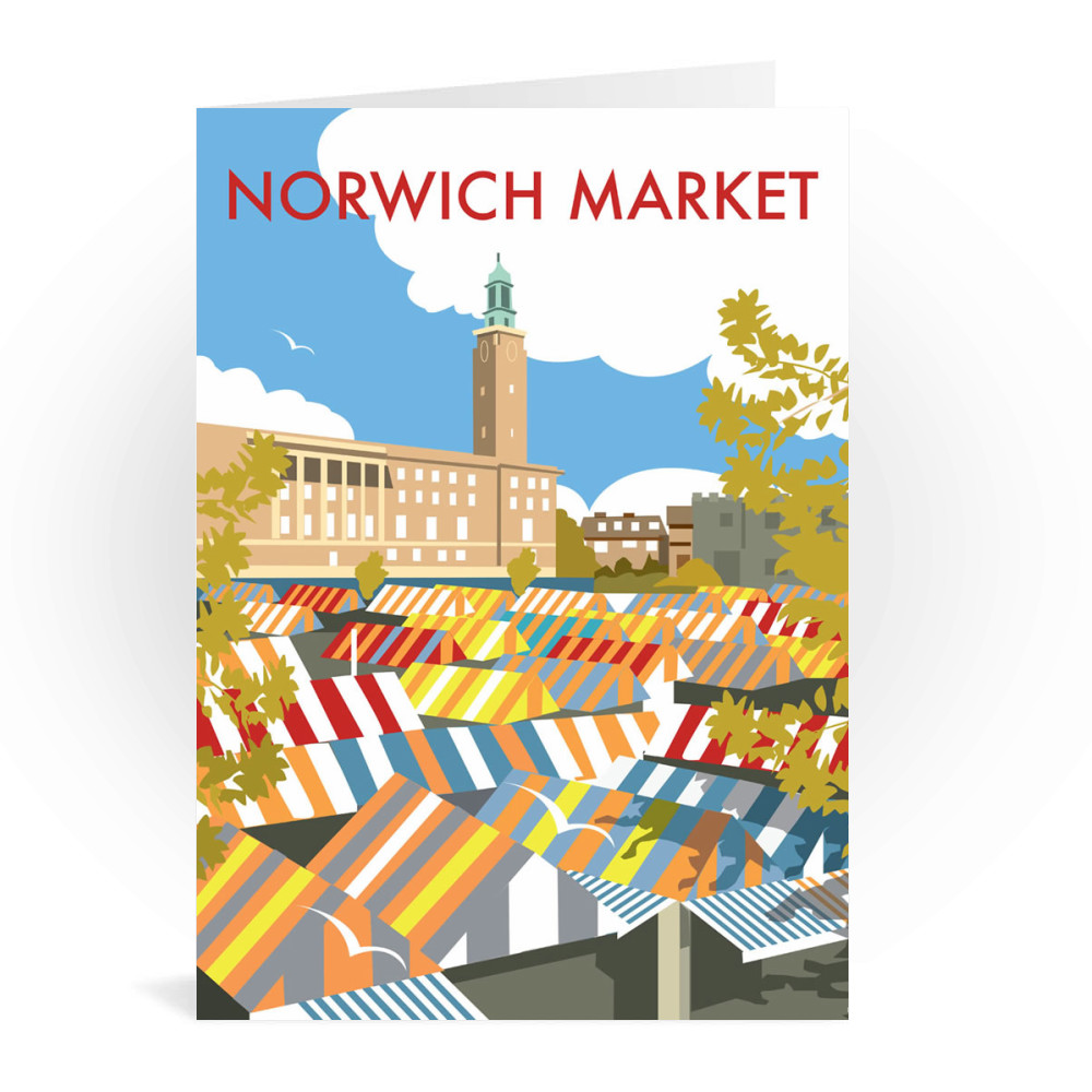Norwich Market Greeting Card