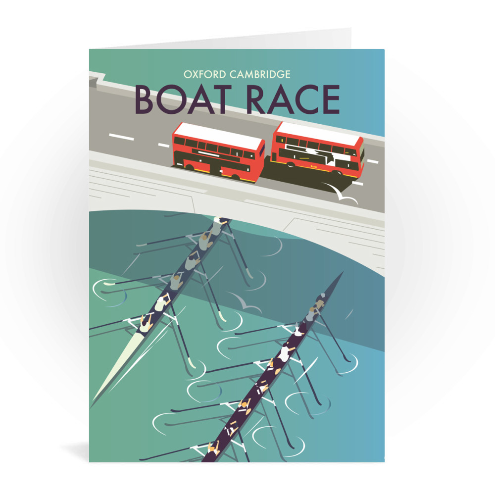 Boat Race Greeting Card