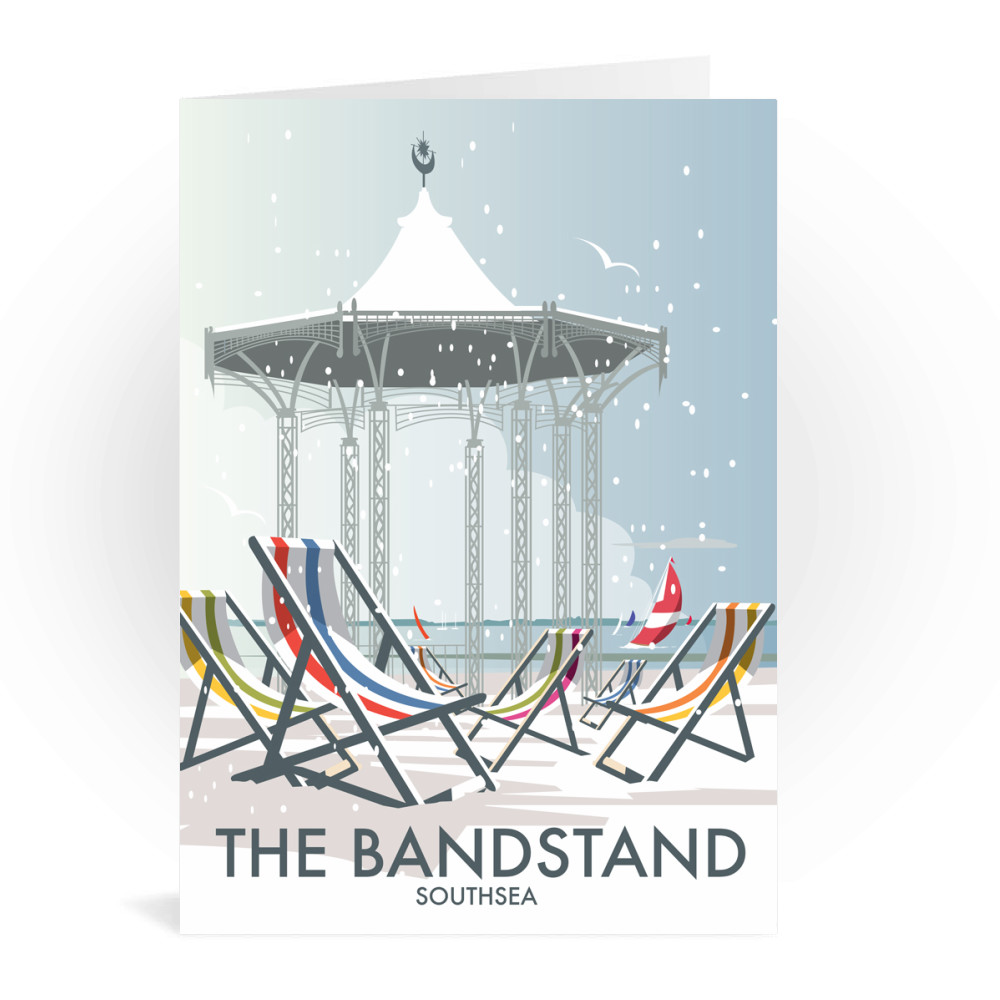 Eastbourne Bandstand Winter Greeting Card