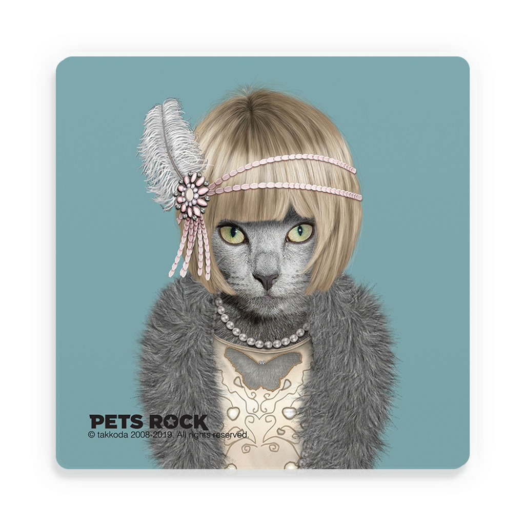 Daisy Pets Rock Ceramic Coaster