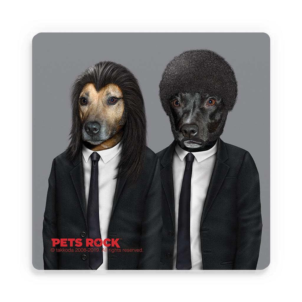 Hit Dogs Pets Rock Ceramic Coaster