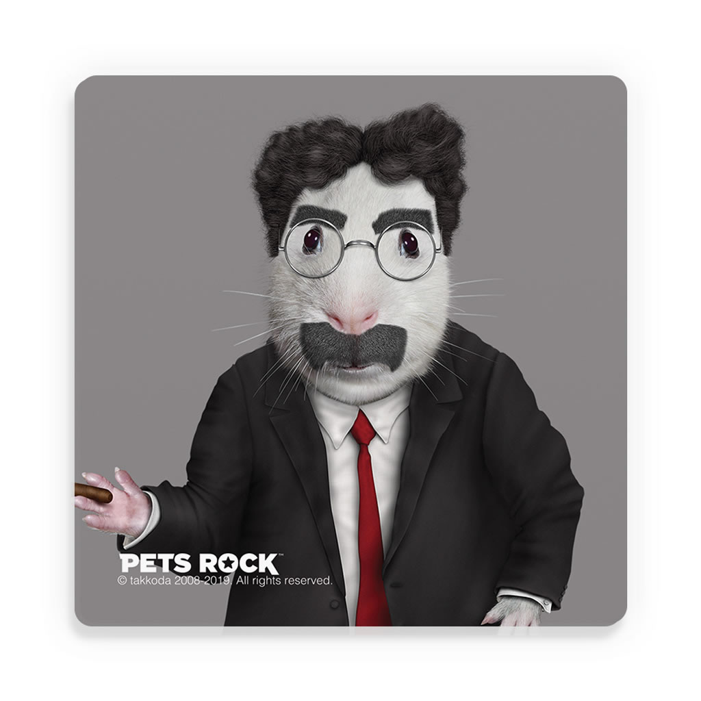 Vaudeville Pets Rock Ceramic Coaster