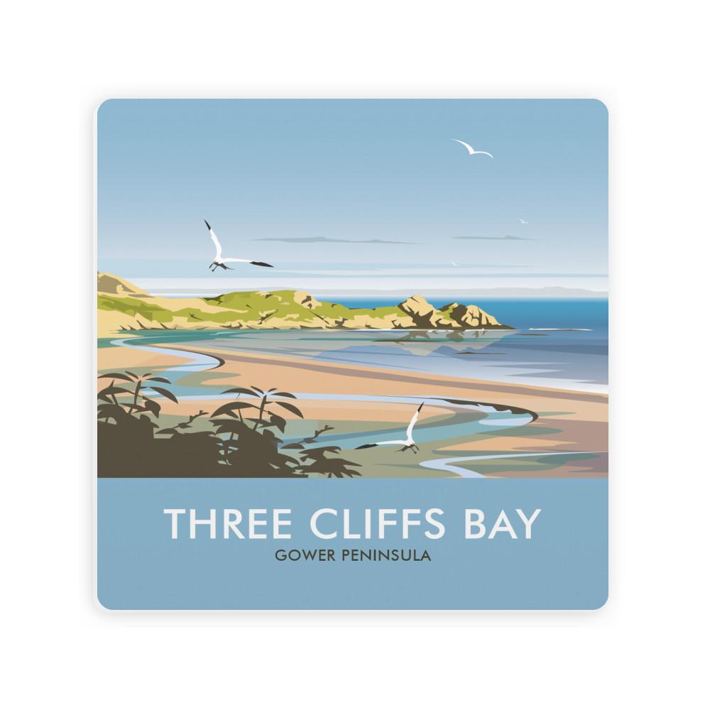 Three Cliffs Bay Ceramic Coaster