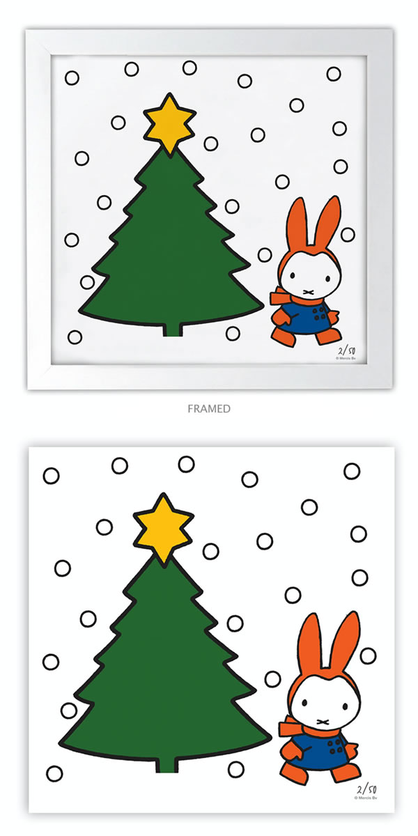 Miffy Xmas Collector's Edition Art Print