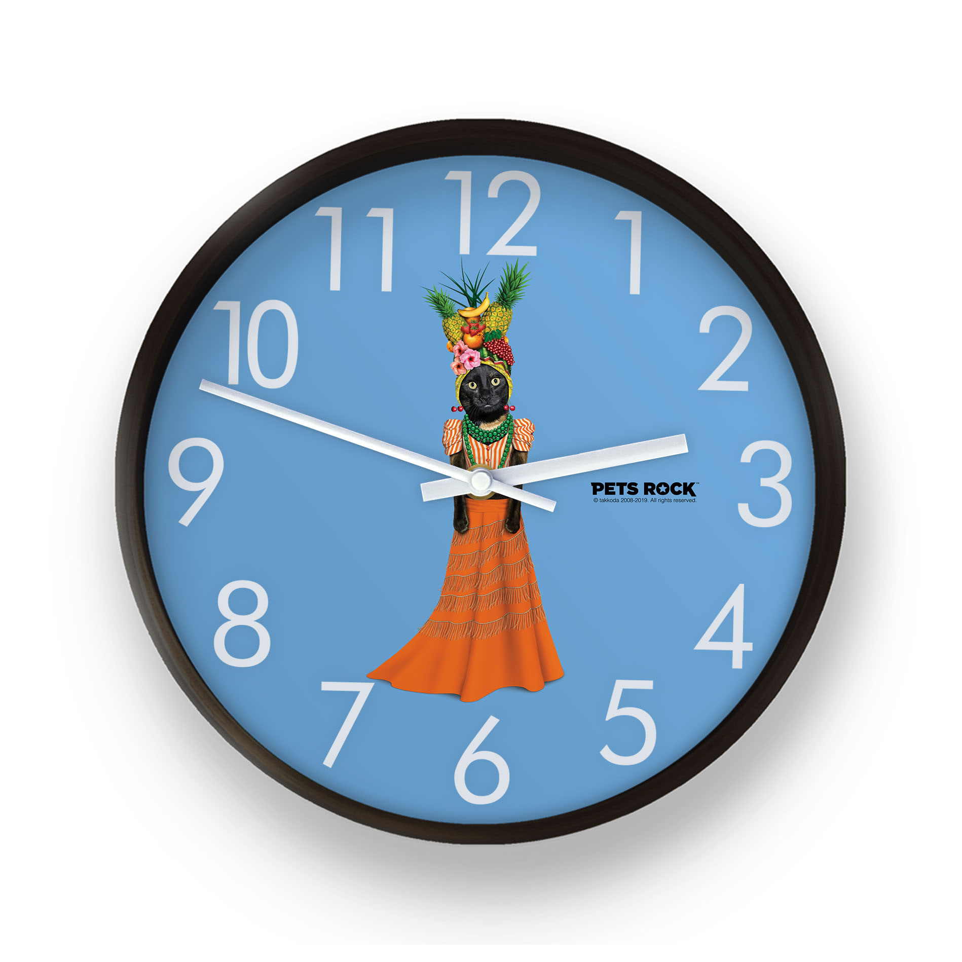 Fruit Pets Rock Wall Clock