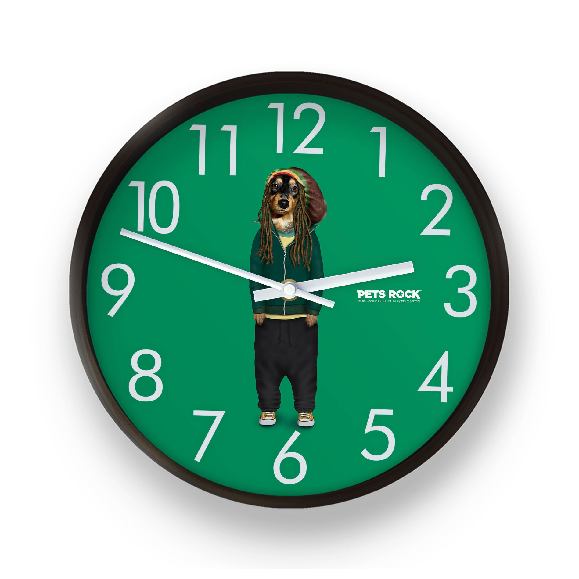 Reggae Pets Rock Wall Clock