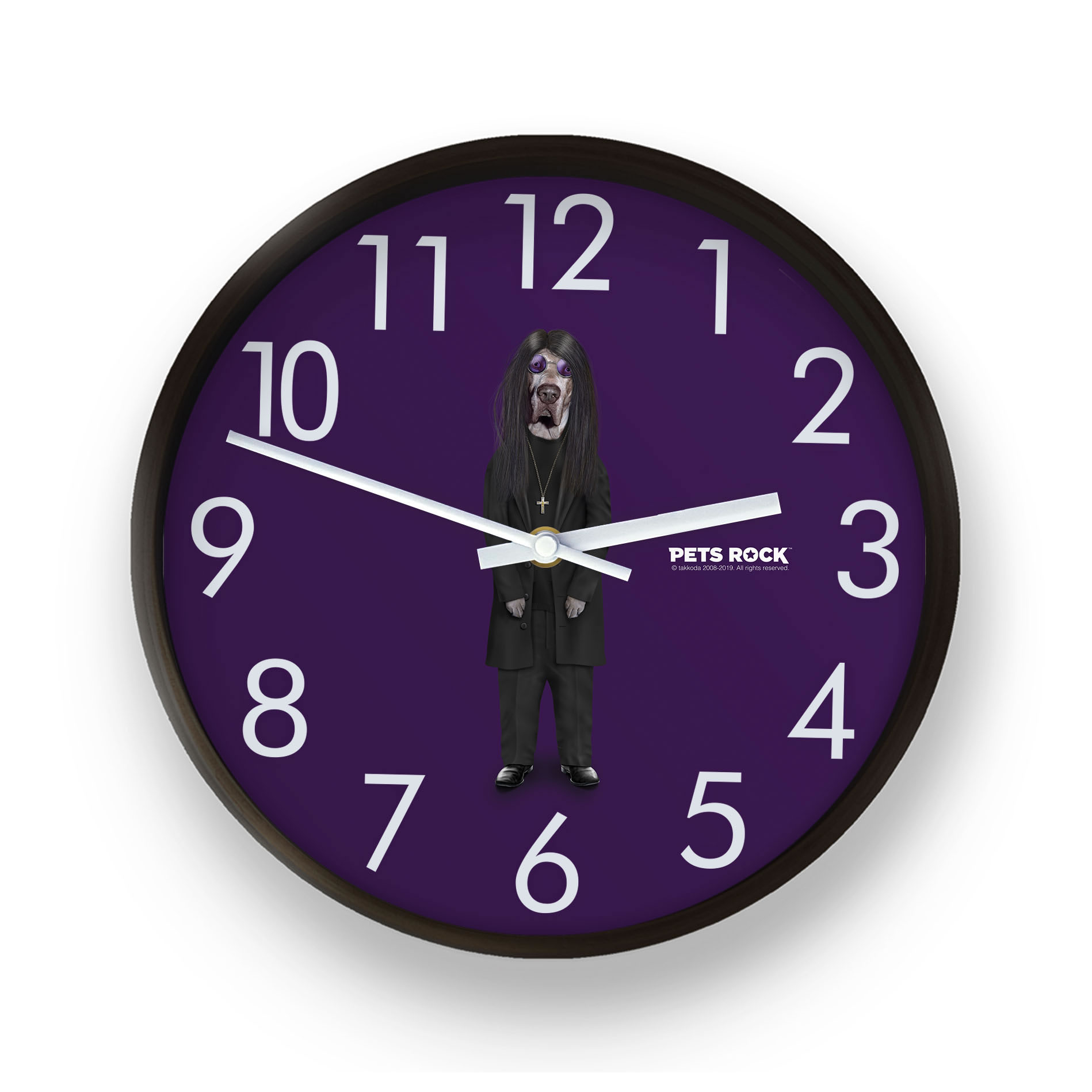 Metal Pets Rock Wall Clock