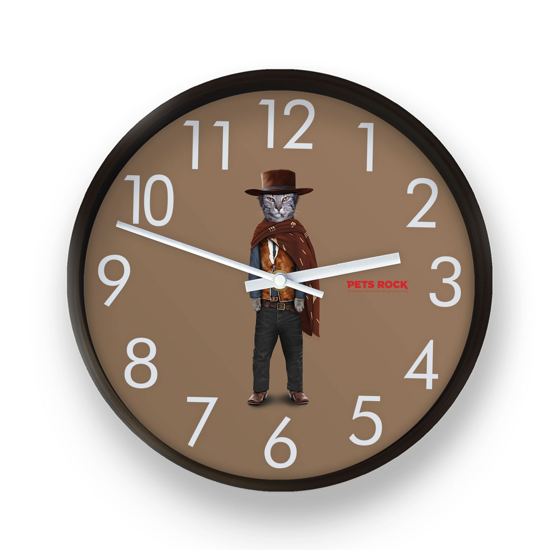 Western Pets Rock Wall Clock