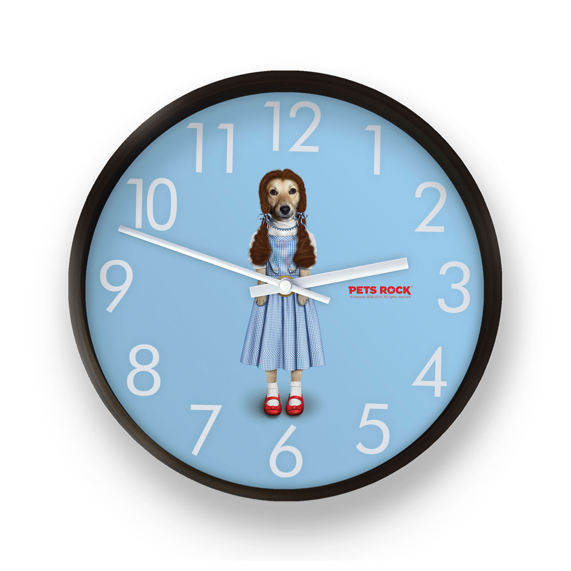 Ruby Pets Rock Wall Clock