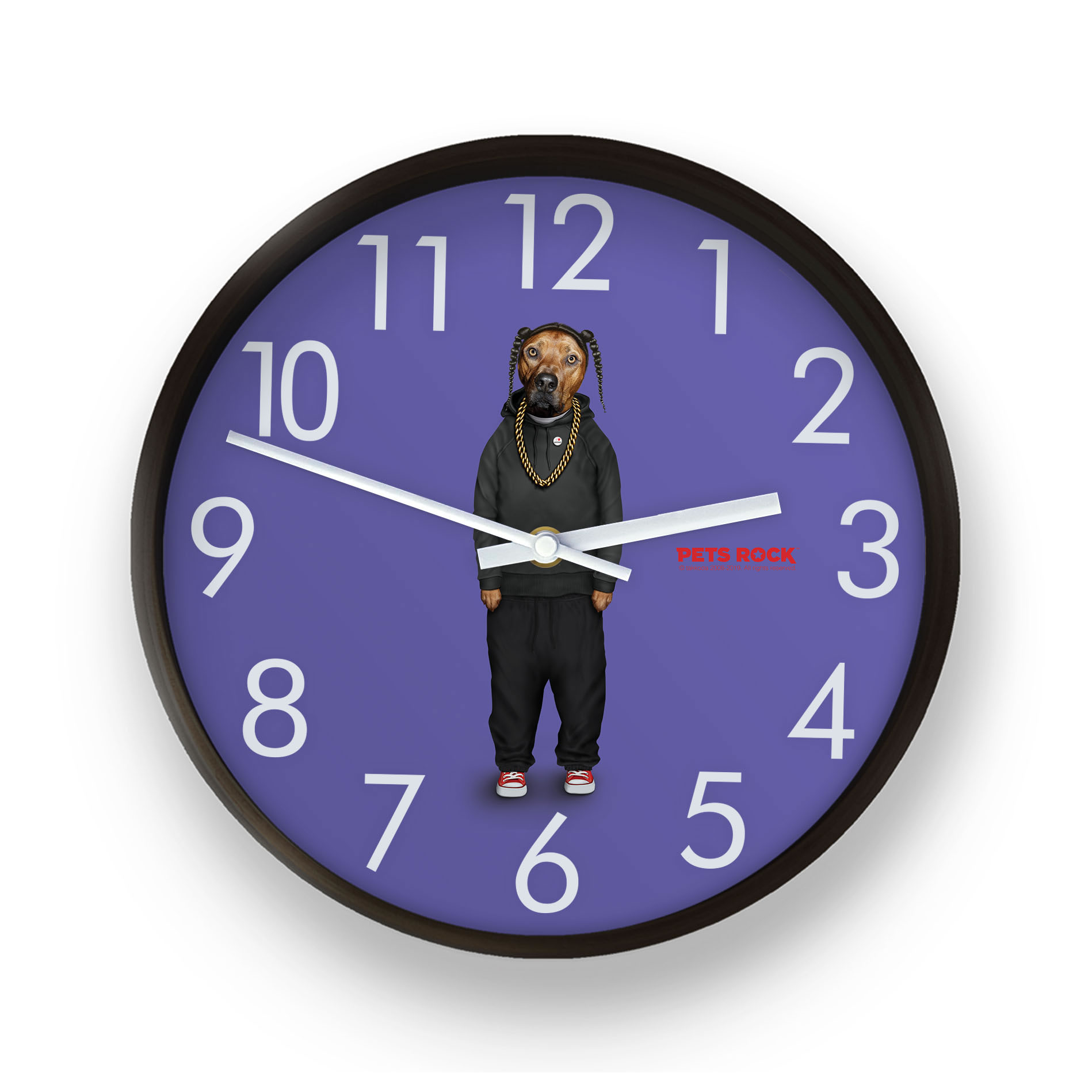 Rap Pets Rock Wall Clock