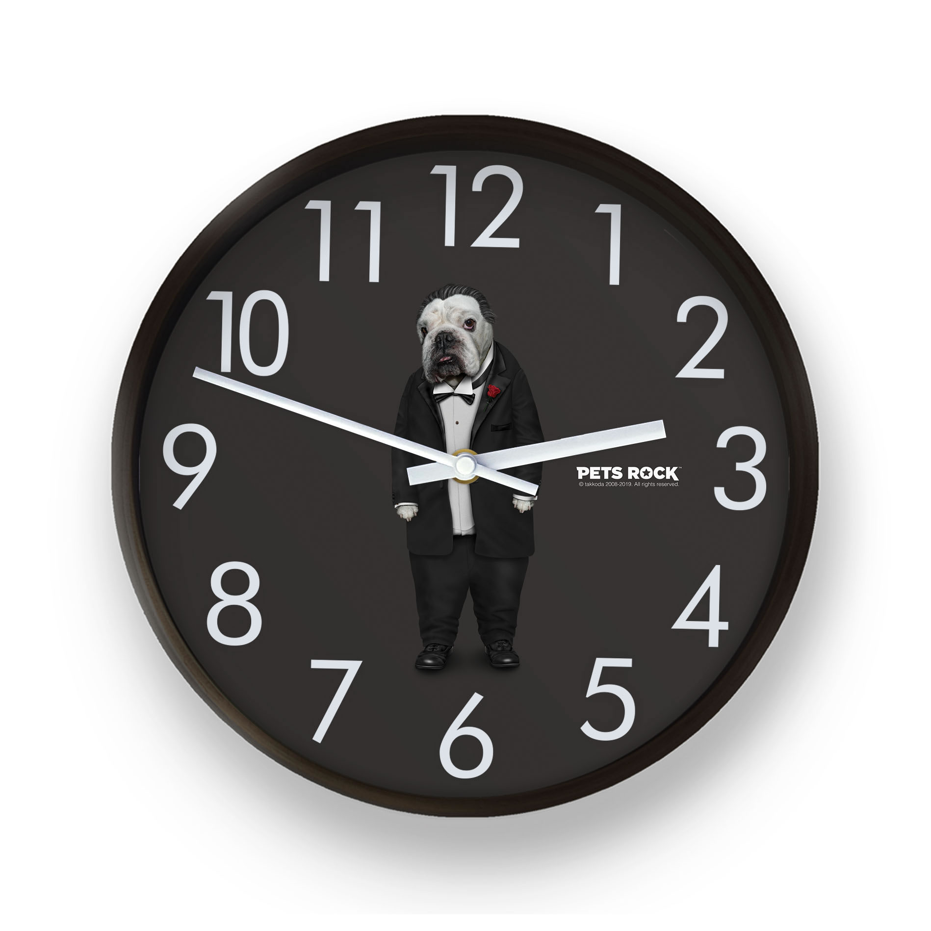Dog Father Pets Rock Wall Clock