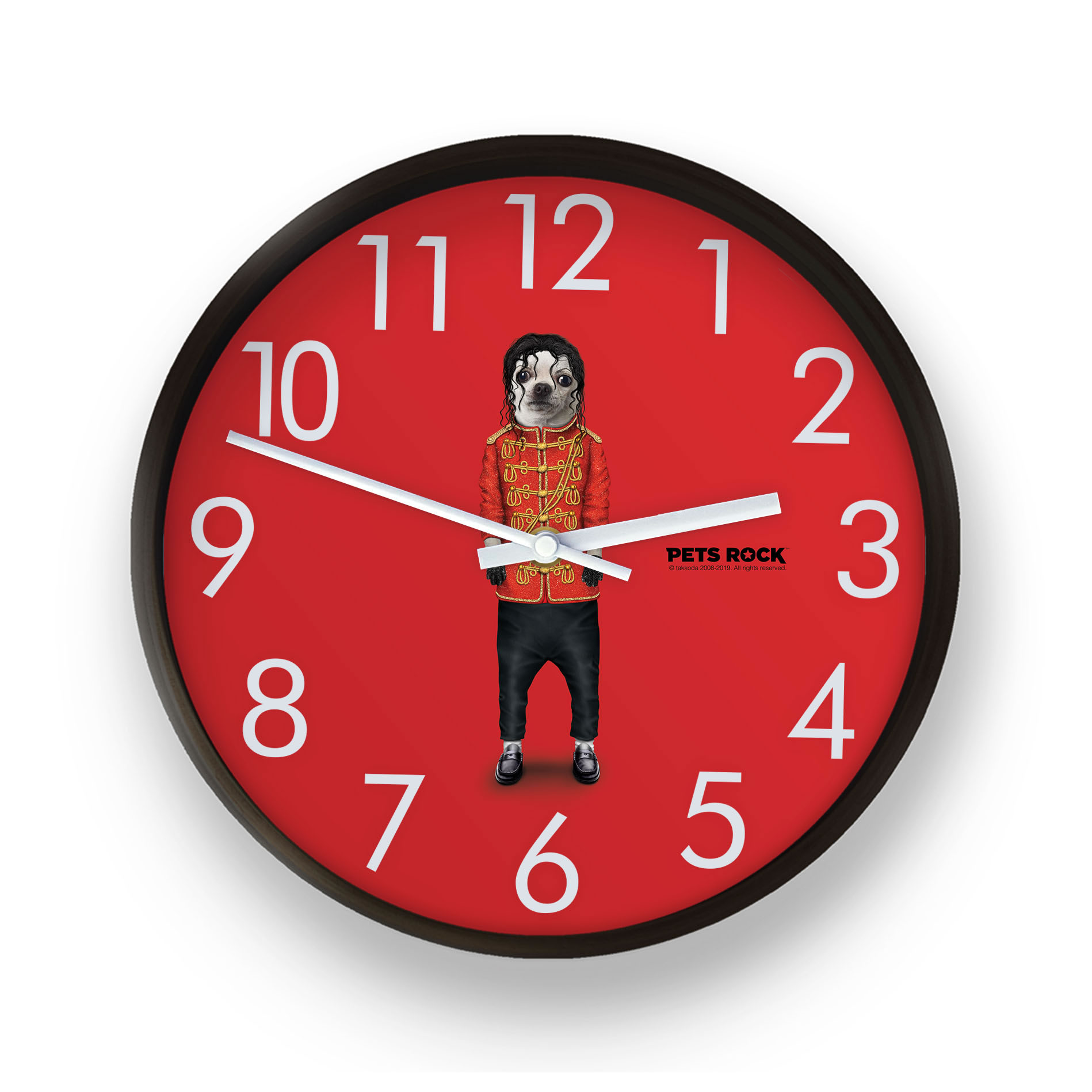Pop Pets Rock Wall Clock