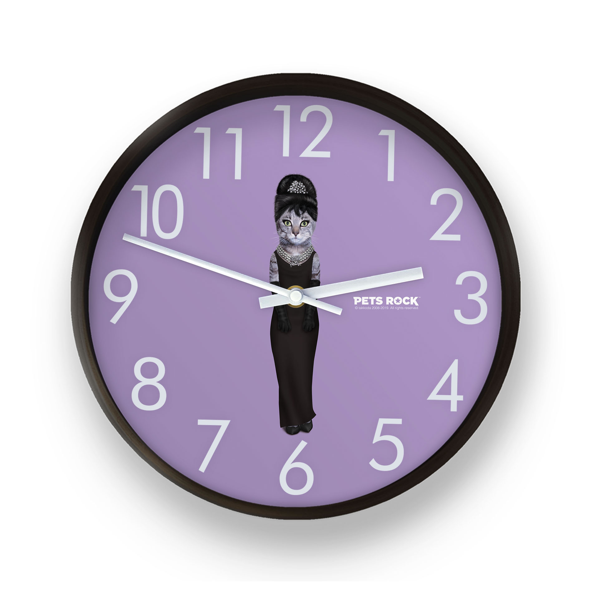 Breakfast Pets Rock Wall Clock