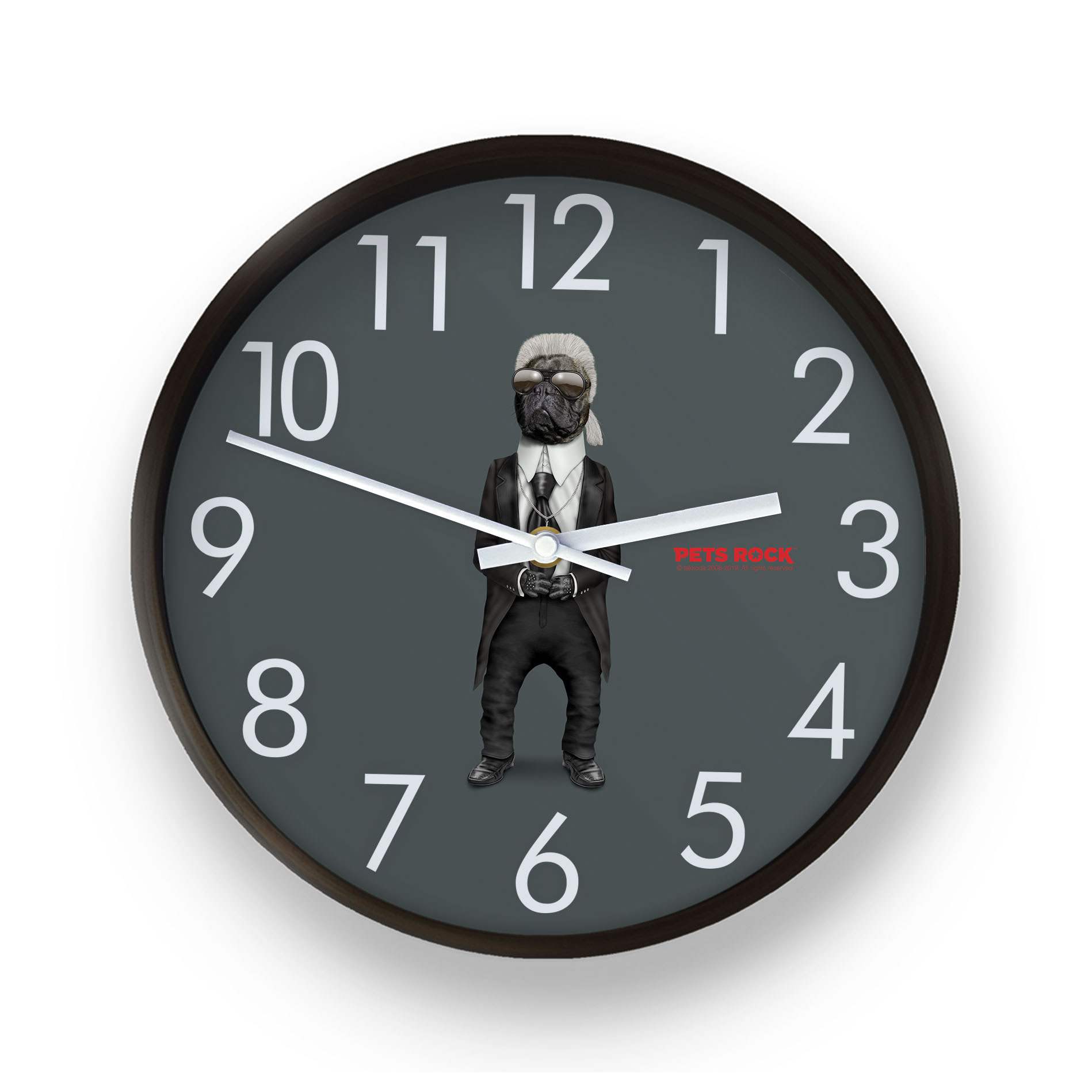 Fashion Pets Rock Wall Clock