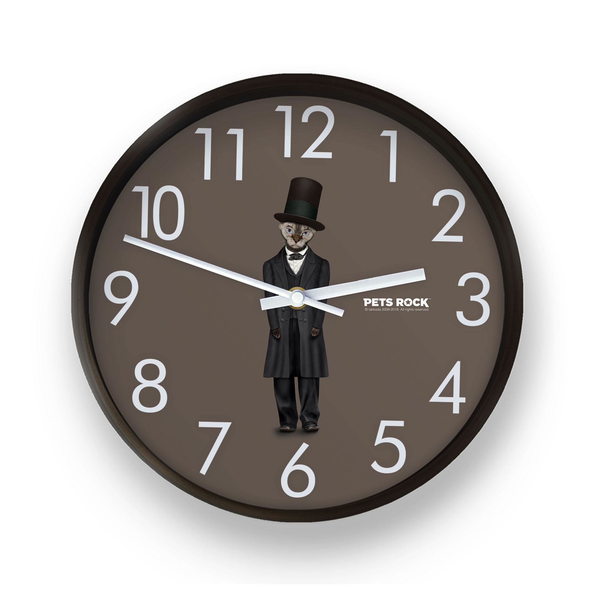 Lincoln Pets Rock Wall Clock