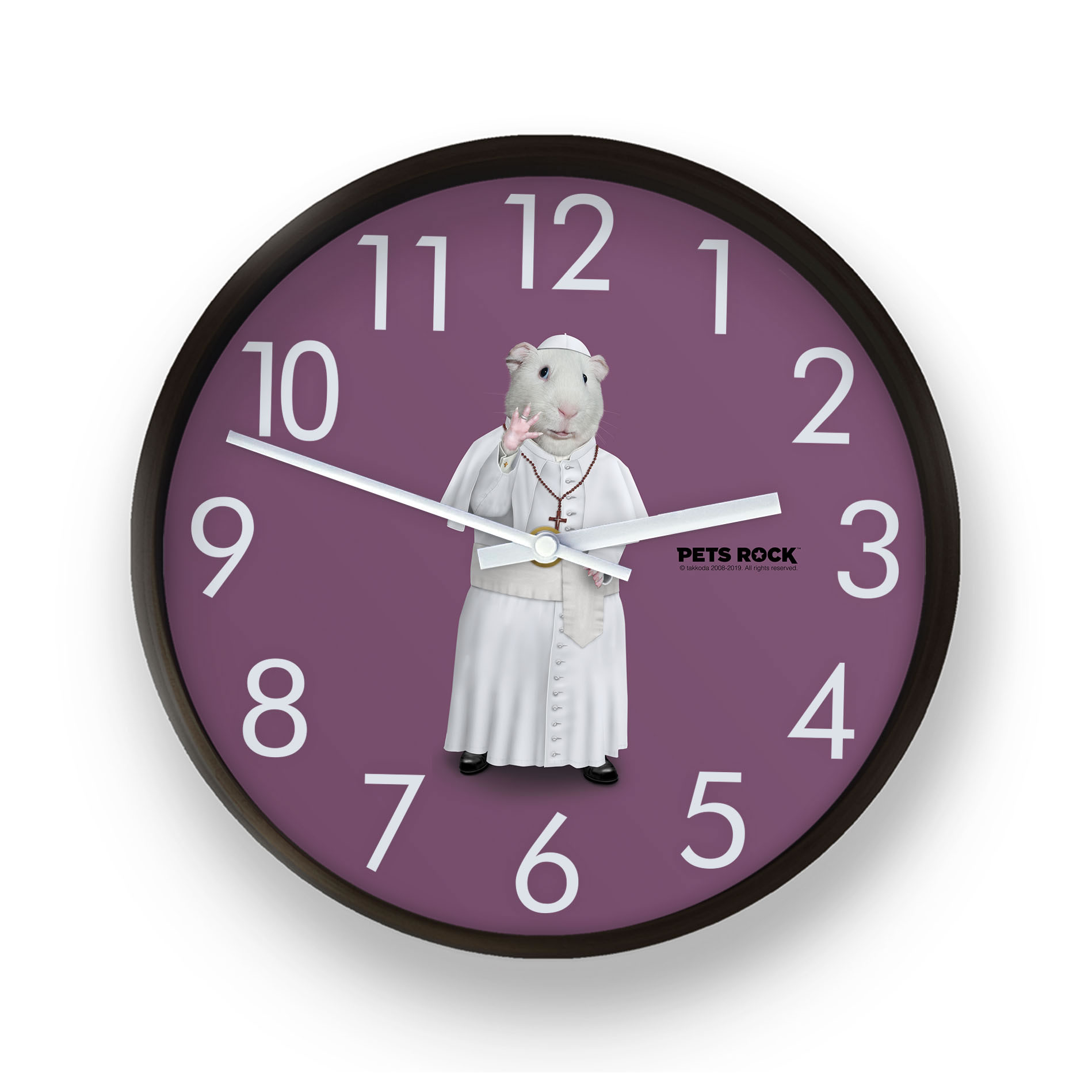 Church Pets Rock Wall Clock