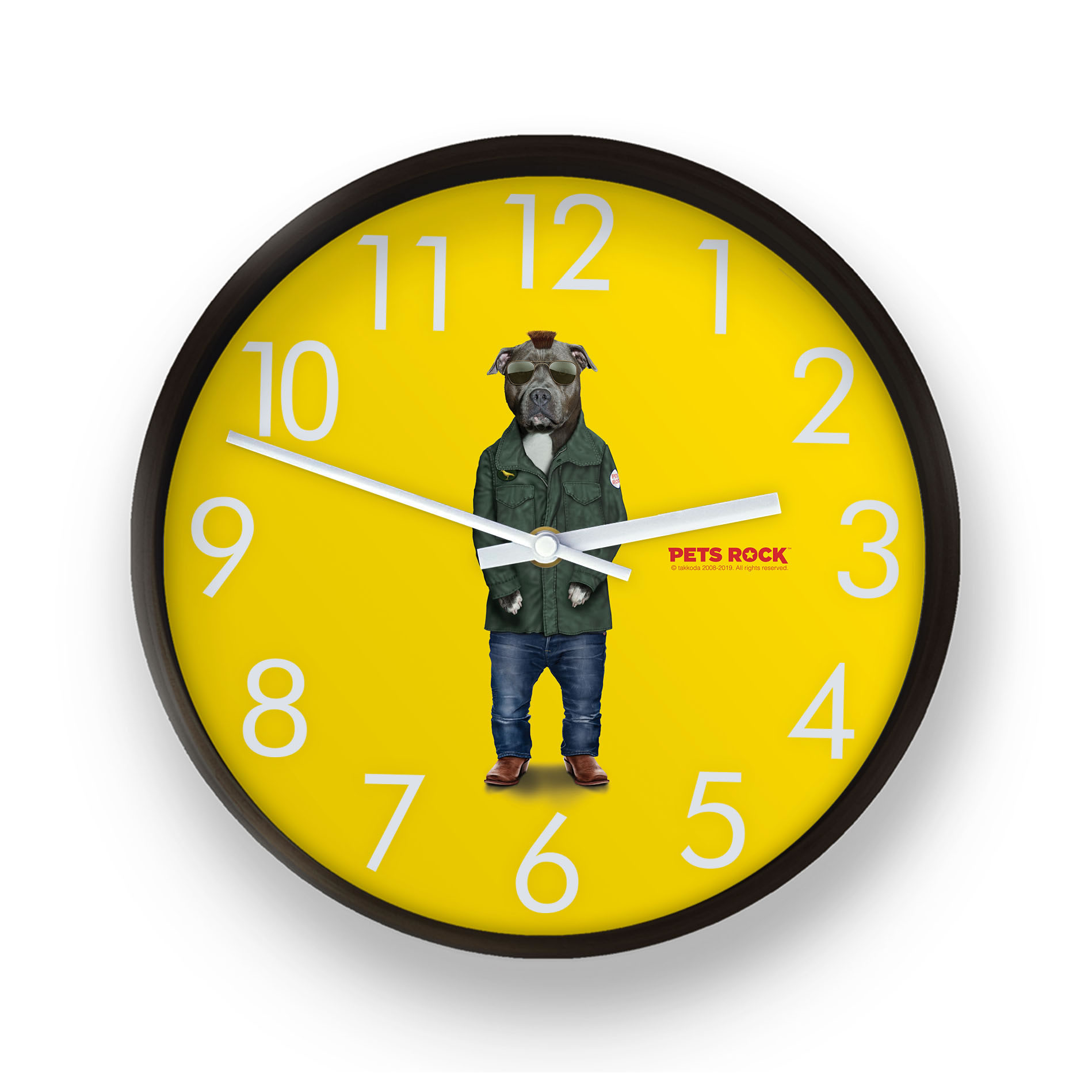 Cabbie Pets Rock Wall Clock