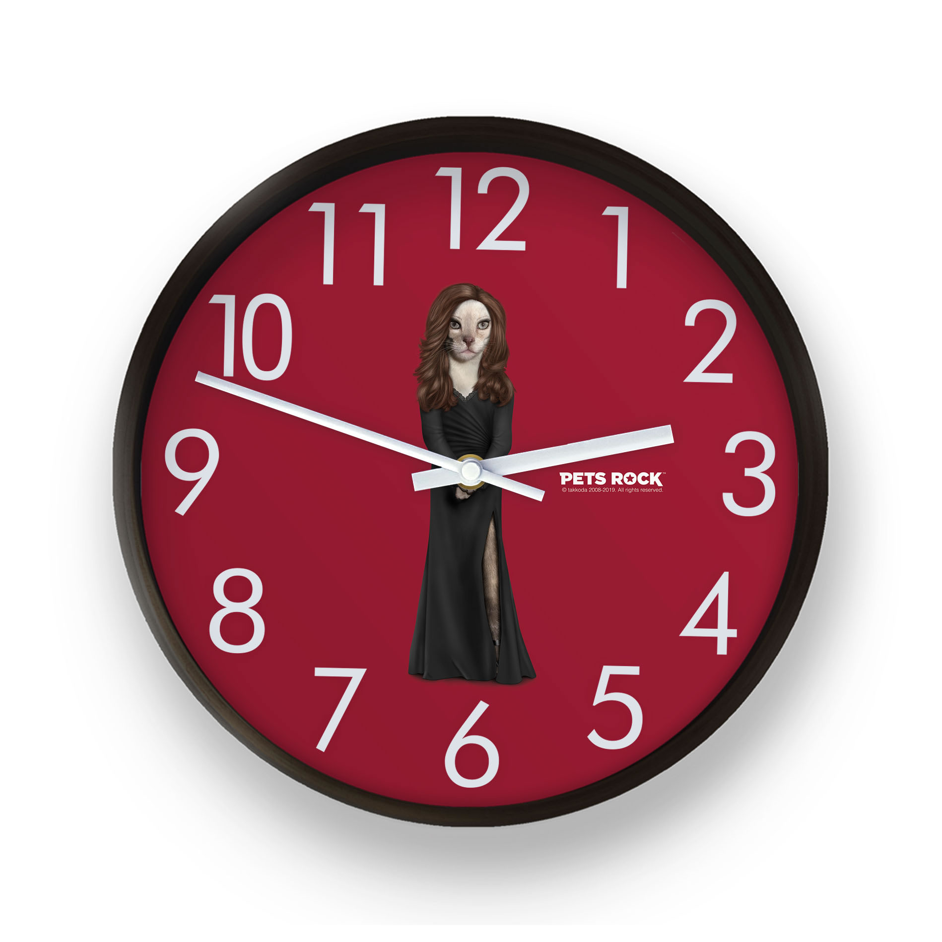 Hollywood Lady Pets Rock Wall Clock